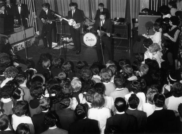 The Beatles at the Majestic Theatre in Birkenhead, England. April 1963, Getty images